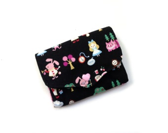 Coin purse wallet Alice in wonderland