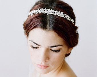 Bridal Headband, Swarovski Crystal Headband, Wedding Headband, Bridal Wedding Headband, Swarovski Crystal Bridal Hair Accessory- The BRIDGET