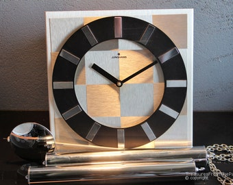 Mid century design 70s art deco Junghans wall clock. Rare design model