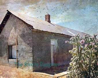 Old Adobe House, Southwest Art,  5 x 7 Matted Photograph