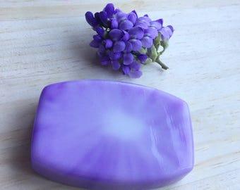 Lilac Soap: Lilac Soap Bar, Lilac Bar Soap, Lilac Goat Milk Soap Handmade Lilac Soap Homemade Lilac Soap Lilac Gift Soap Spring Scented Soap