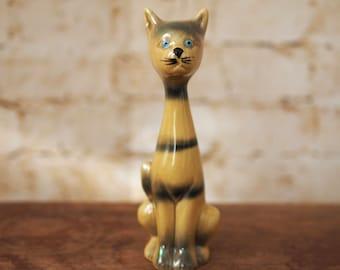 1970's Vintage Striped Cat Ornament