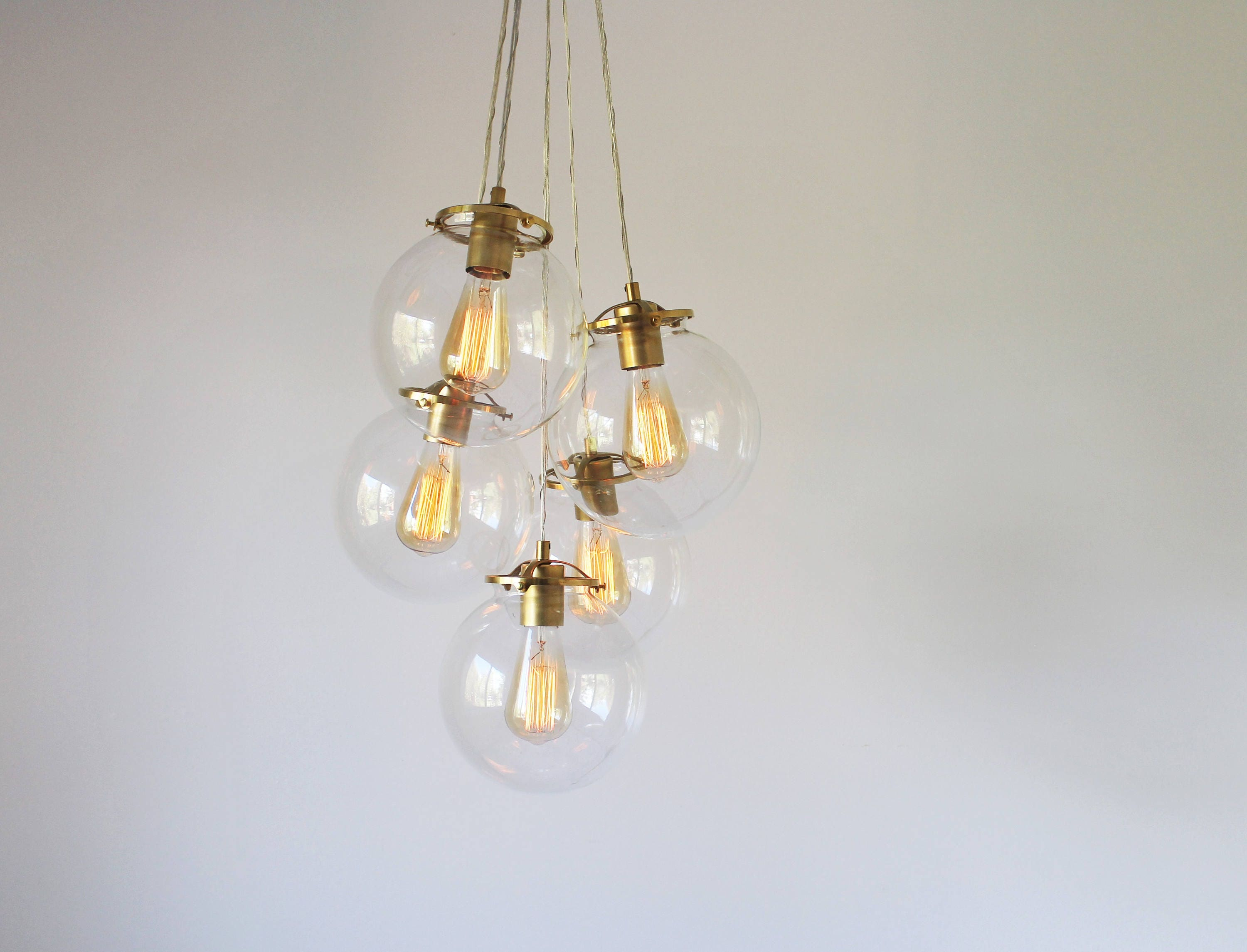 Bubble Chandelier Globe Chandelier With 5 Glass Globes