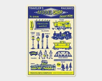 Traveler's Note 2018 Limited Plastic Sheet Passport Size 40221006 Traveler's Factory Midori Designphil Rare Free shipping New
