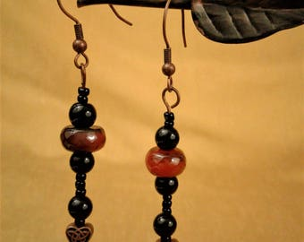 Earrings with Agate Beads
