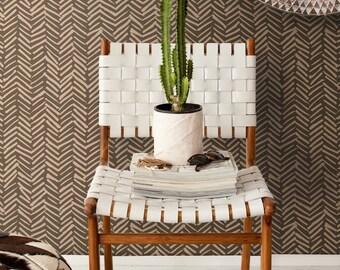 Simple Herringbone peel and stick vinyl wallpaper   Herringbone pattern   Hand drawn pattern wallpaper  #12