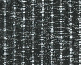 Black Ribbed Texture Knit Fabric, Fabric By The Yard