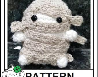 Mummy Amigurumi Pattern, Mummy Plushie, Crochet Stuffed Halloween Pattern