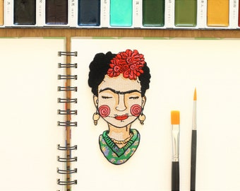 Parche termo adhesivo de Frida Kahlo