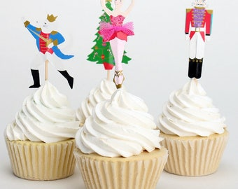 Various-Designs-Cupcake-Toppers-for-Birthdays-Christmas Set-of-24