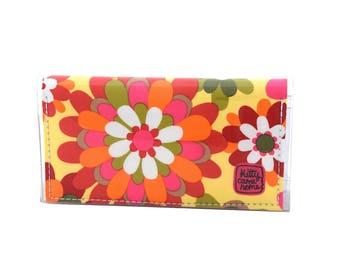 Mini Bi-fold Clutch - freedom flowers