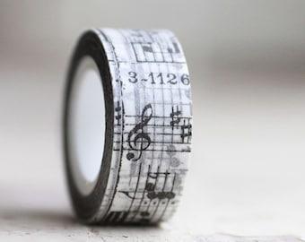 Tissue Tape 20 mm  MUSIC 16 yards , New Years Theme Decor