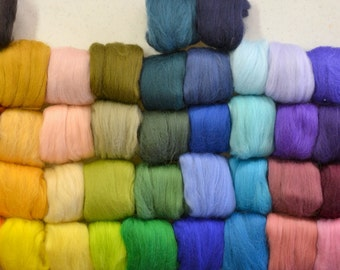 15 Colours your choice: 24 Micron Wool Roving - 10 gram(0.35 oz)/each colour total 150 grams - 3.5oz