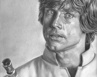 Luke Skywalker Star Wars Drawing Print