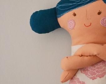 handmade rag doll // cotton // soft toy // stuffed toy