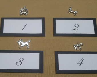 Sterling Silver Horse Charm Necklaces, Horse Jewelry