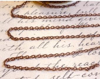 SALE Bulk 100 Feet FT Full Spool Cable Chain Antique Rose Gold Copper Wholesale, Copper Chain, Cable Chain, Spool Chain,