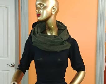 Scarf infinity gift. Ready to ship scarf. Scarf teacher gift. Khaki Black scarf. Khaki Plaid scarf. Scarf girlfriend gift.