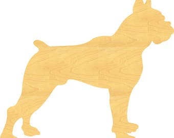 Boxer Dog Wood Cutout Small Sizes Up 12 Inches  -  Wall Decor Projects or Other Use