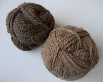 30% off SALE - Alpaca and Merino Bulky Yarn - 100 Yards - Available in Fawn/Light Tan, Brown and Grey - Gray