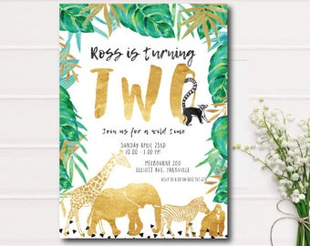 Jungle invite Etsy
