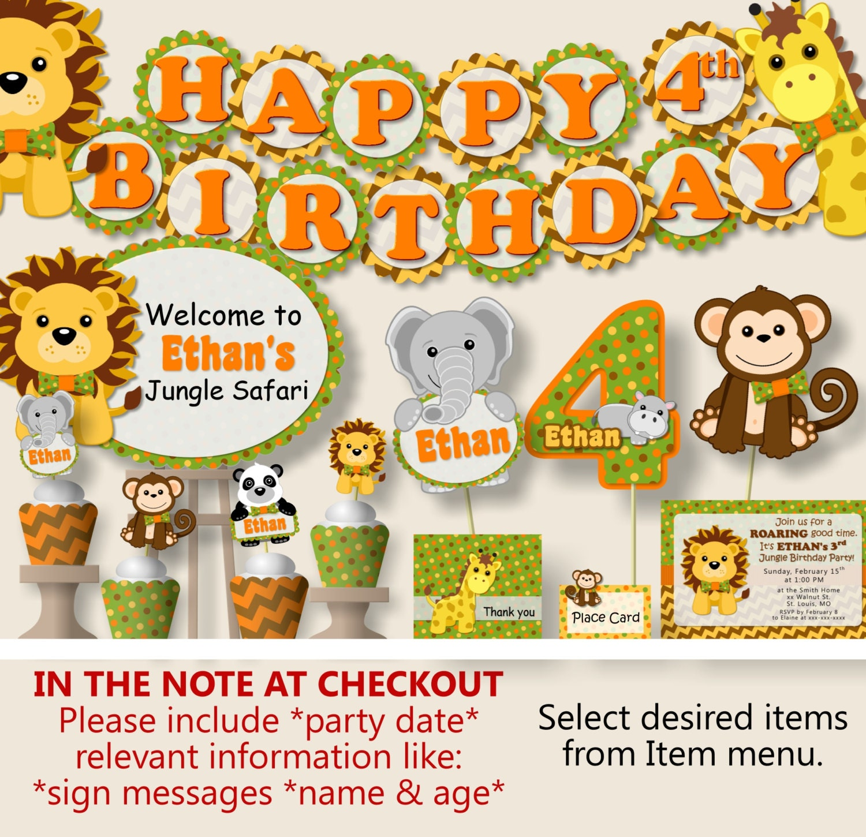 Safari Birthday Party Decorations Jungle