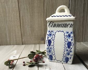 Vintage German Porcelain Cinnamon Canister