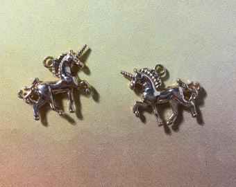 Gold tone unicorn charm