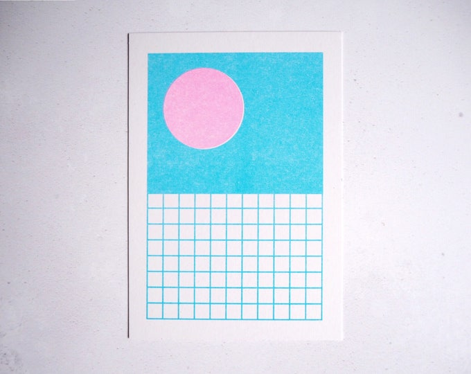 Dive In Summer - Mini pattern print - Risograph print A6