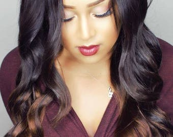 Balayage Ombre Lace Front Wig Brazilian Virgin Hair JULIANA