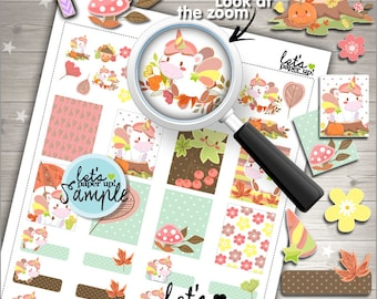 60%OFF - Unicorn Stickers, Printable Planner Stickers, Autumn Stickers, Kawaii Stickers, Fall Stickers, Planner Accessories, Season Stickers
