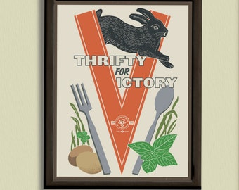 Thrifty for Victory - 11x14 Poster