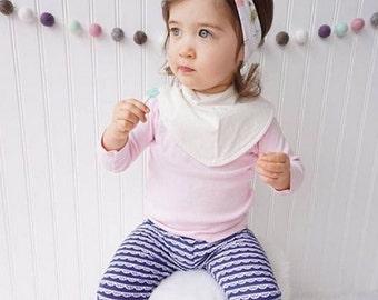 Baby bandana bib, baby bib, bandana bib, scarf bib, baby shower gift, unisex baby bib, drool bib, scarf bib, unique bib, cream baby bib