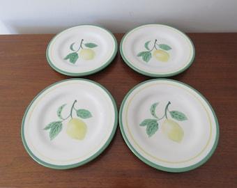 Williams Sonoma Lemon Salad Dessert Plates - Set of 4
