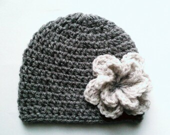 Baby bonnet, baby girl Hat Handmade wool