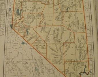 Vintage reno map Etsy
