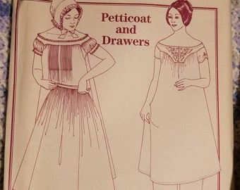 Past Patterns petticoat and drawers pattern