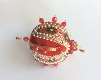Vintage Beaded Sequin Christmas Ornament