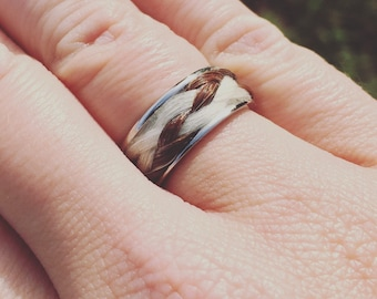 Horse Hair Ring, size 8