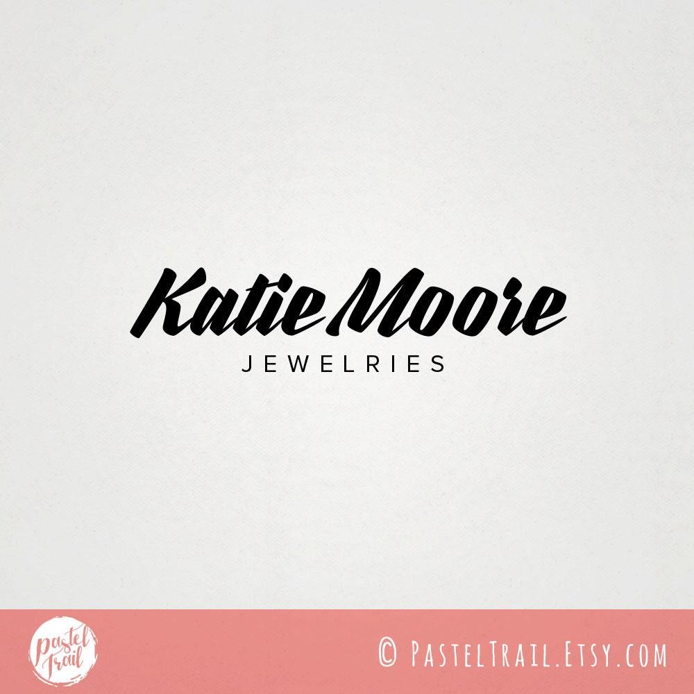 Custom Premade Jewelry Logo Design Katie Moore Jewelry Store