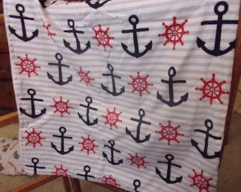 Nautical Baby Blanket or Lap Throw