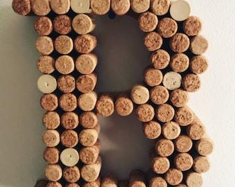 Wine cork monogram decor