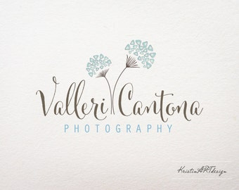 Photography Logo - Customized for any business logo - Premade Photography Logos- Flower logo-Dandelion logo-Watermark 137