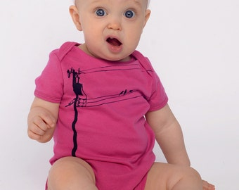 KatieBirds Onesie in Hot Pink