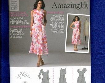 Simplicity 2174 Princess Seam Shirtwaist Fitted Dress Pattern Size 6 to 14 UNCUT