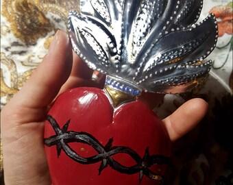 Ex-Voto enameled copper Heart