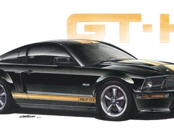 2006 Ford Shelby Mustang GT-H 12x24 inch Art Print by Jim Gerdom