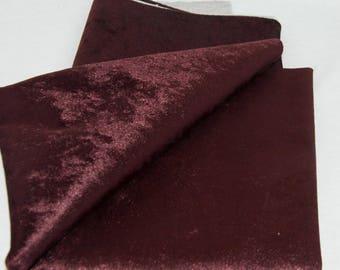 Burgundy upholstery fabric by the yard / Velvet upholstery fabric / Velvet tapestry fabric / Pillow cover velvet fabric / Home decor fabric