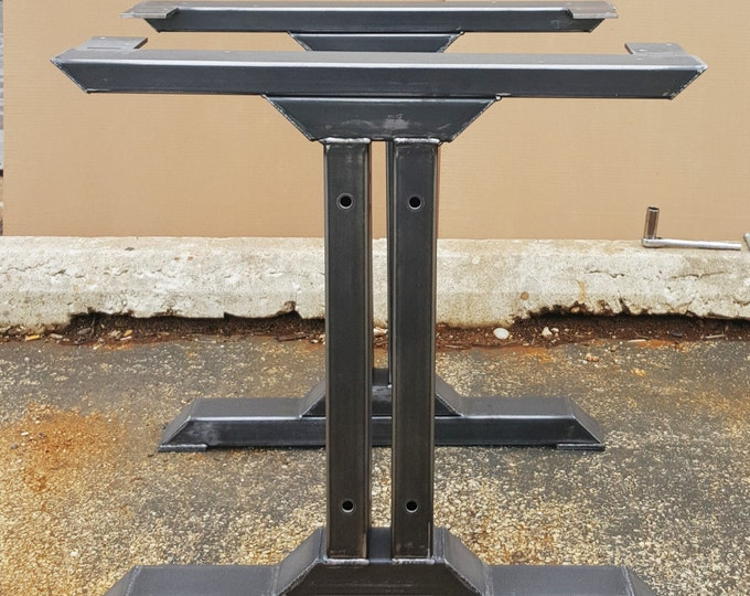 Metal table bench legs dvametal stylish dining table legs model tus08 industrial kitchen table legs watchthetrailerfo