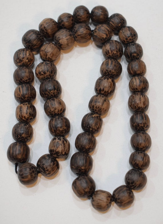 Beads Philippine Natural Palmwood Round Vintage Beads 10mm - 11mm